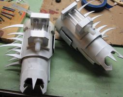 Fire Mando Gauntlets WIP 3 by obi-wan8403