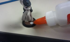 Step 8: Apply watered down Glue. by PONYPAINTTHEPONY
