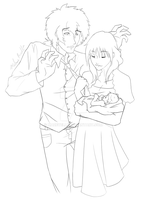 The Cunninghams Lineart by Mazeyelle