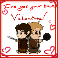 Valentine 2014: Frodo and Sam by Kumama
