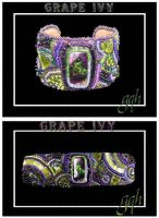 Grape Ivy Embroidered Cuff by GoodQuillHunting