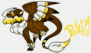 Palleta the Paint Dragon by InkyRainClouds