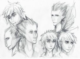 Sketch 3: Pitch and Jack Frost by Anree-Bekker