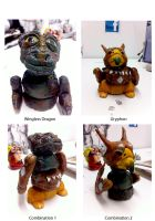 Clay creatures by Gashu-Monsata
