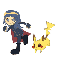 Lucina and Pikachu by SuperMarcosLucky96