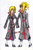 Deidara and Deidra by iloveanime12
