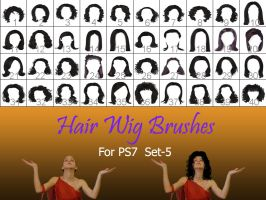 Hair_Wigs_Brushes_SET_5 by intenseone345