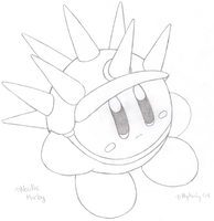 Needle Kirby - drawn by water-kirby