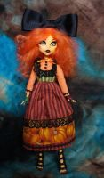 Custom Monster High Toralei, now Pumkitty by redmermaidwerewolf
