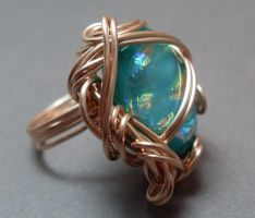 Mermaid Looking Glass Ring by sojourncuriosities