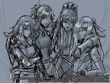 Request - 3 Kunoichis and 1 Queen from the World by zeth3047