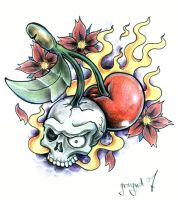 skull cherry by graynd