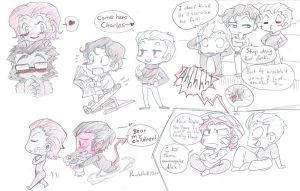 X-men chibi class sketchdump by Pandablubb