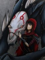 Red and the Wolf- Ruby Rose by Ray-Ken