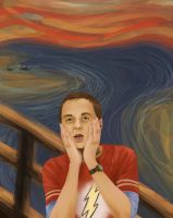 Sheldon Cooper- The scream by CinderellasCorpse