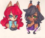 Sally and Nicole [Daily Doodle] by seuris