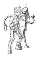 Fry and Bender by KleeWyck