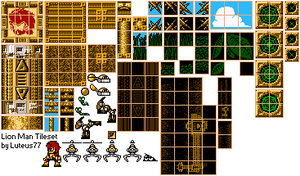 Lion Man Tileset by luteus77
