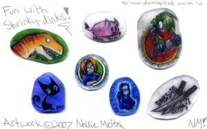 Fun with Shrinky-dinks by spookydoom