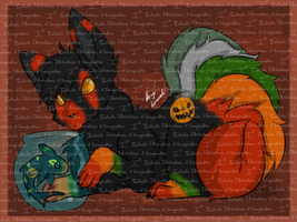 Jet and Deakoff the Beasts of Hallows Eve by I3-byUsagi
