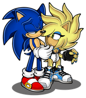 Hannah X Sonic .:Commission:. by Pendulonium