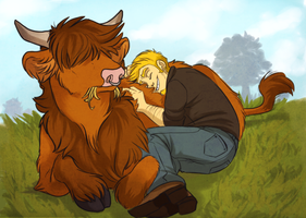 Loves his moo by AeroSocks