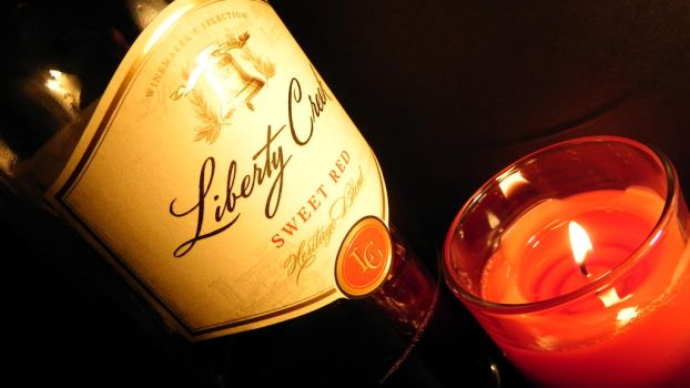 Candle lit wine by deelayton