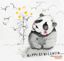 panda is my valentine by daqueen-one