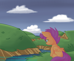 Scootaloo is upset by CrombieTTW