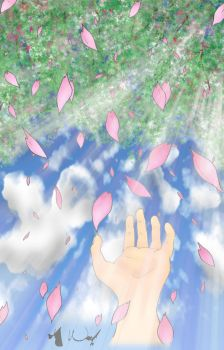 Raining Sakura Light by sketched1
