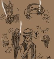 Spy sketches by DeathDragon13