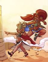 Riju and Urbosa by Pehesse