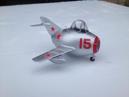 Hasegawa MiG-15 Fagot Egg Plane by Jetster1