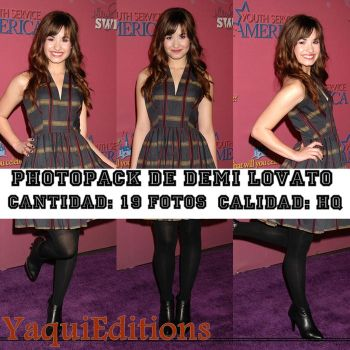 photopack de demi lovato by YaquiEditions