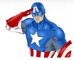 Captain America colors by marron