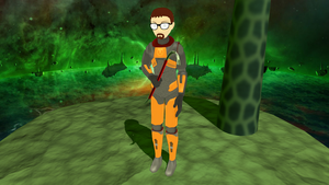Absolutely First Gordon Freeman Model for MMD! by BloodyKylie