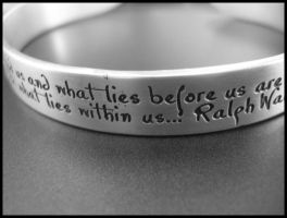 quote bracelet by nightingale16