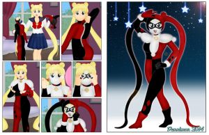 Usagi becomes Harley Quinn by DannimonDesigns