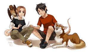 Katie and Scott by meago