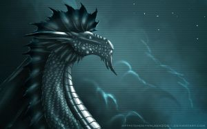 Silver Dragon Wallpaper by Ghostwalker2061