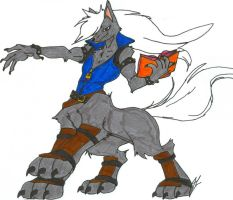 Wolfrun - Centaur Mode Comm. Colored by dragonheart07