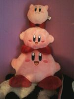 Kirby Plush Pile by LaughingKirby