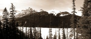 Over Lake Louise by mightystag
