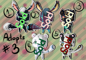 Adoptable Auction Set #3 ~{CLOSED} by Cookiedopts