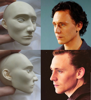 Handmade BJD-head Loki / Tom Hiddlestone by the-ALEF