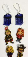 NEW Doctor Who interchangeable earrings set by Lovelyruthie