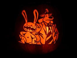 Sam and Max Pumpkin by ceemdee