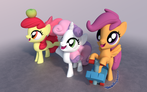 More Cutie Mark Crusaders by DeathPwny