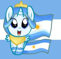 Princess Argenta Filly happy background by pridark