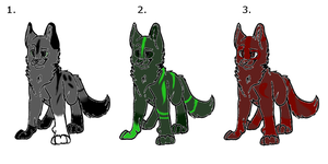 Adopt dogs [Name your prize] by BlackBloodX